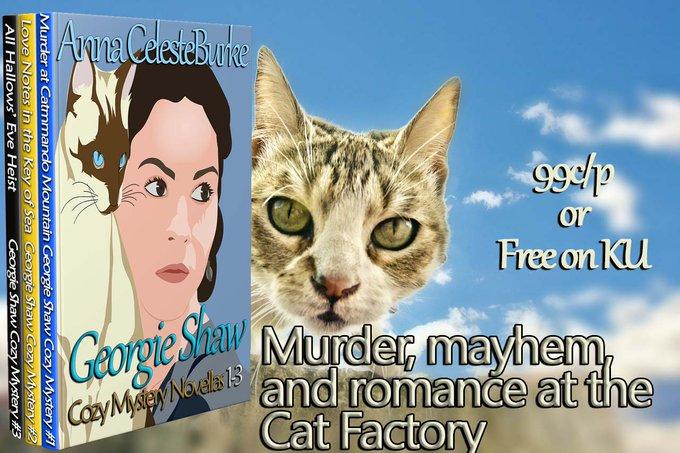 $25 Amazon/PP-1-WW-Georgie Shaw Cozy Mystery 3 Book Series-Anna Celeste Burke-Ends 7/14