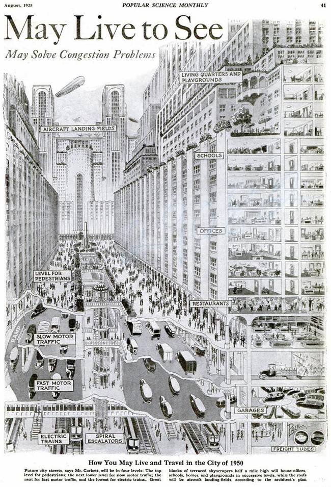 The city of 1950... from Popular Science Monthly in 1925 https://t.co/UfEvsC1YL8
