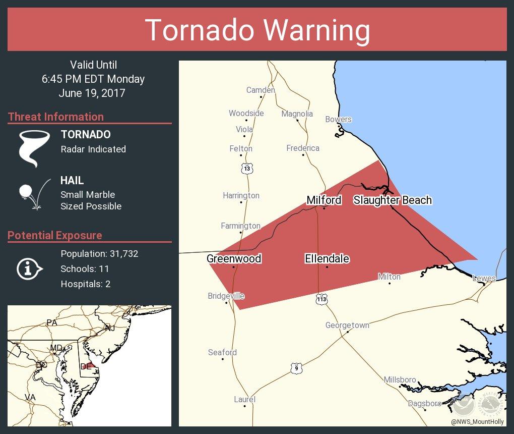Tornado Warning including Milf milford