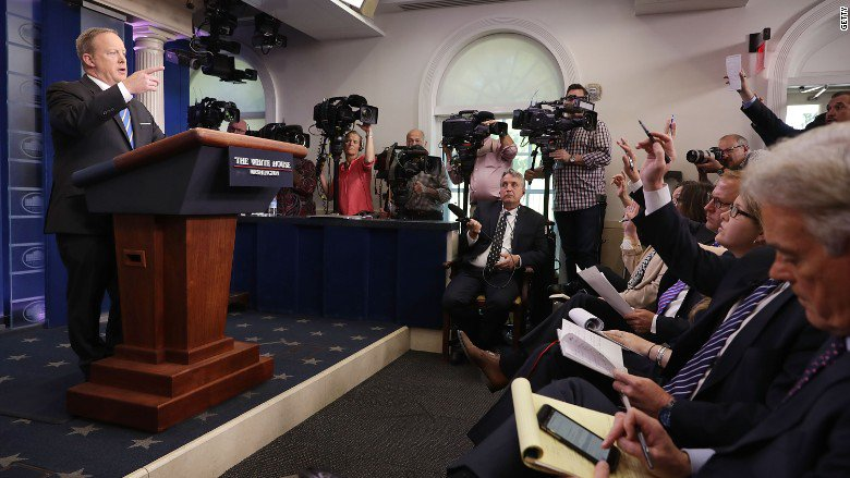 Monday's White House briefing: Off-camera, with no audio broadcasting