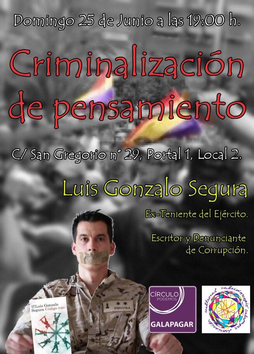 RT @CuleFer: 25 de Junio a las 19:00 @luisgonzaloseg  estará en #Galapagar  Imperdible y un emocionante escucharlo ! https://t.co/9mOz1czwNk