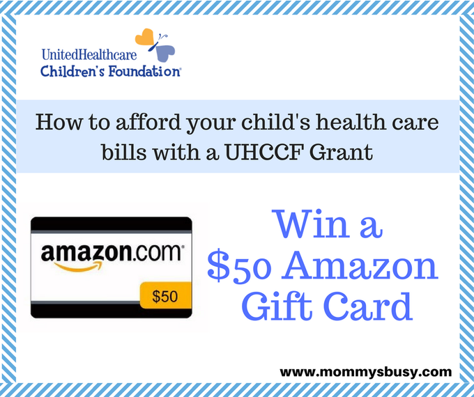 How to Afford Your Child's Health Care with a Grant, Plus $50 Amazon Giveaway