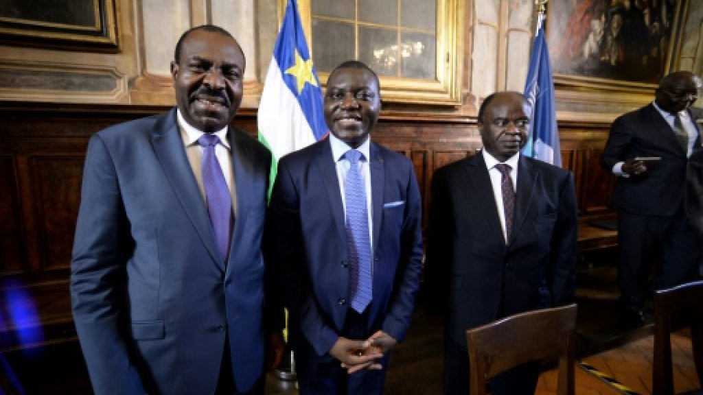 In Rome, C. Africa govt inks peace deal with rebel groups