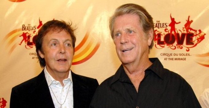Happy 75th birthday Brian Wilson (precisely two days younger than his friend Paul McCartney):