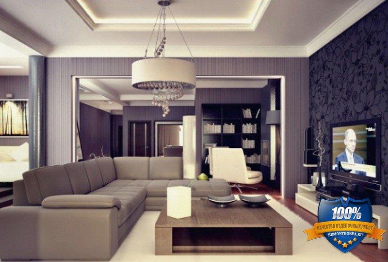Интерьер гостиной в стиле модерн фото от дизайнеров