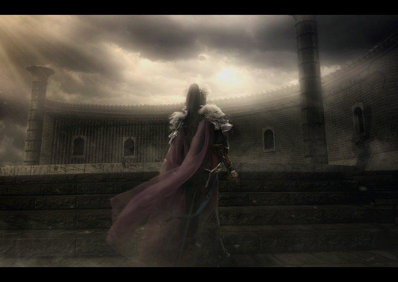 【コスプレThunderbolt Fantasy 東離劍遊紀】殺無生:繭千鳥さんから生死一劍の背景っぽい素材を頂いたので