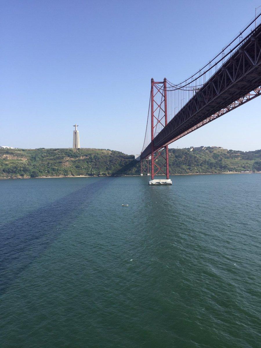 #Lisbon #25deabrilbridge #christtheredeemer #RoyalCaribbean #independenceoftheseas htt ...
