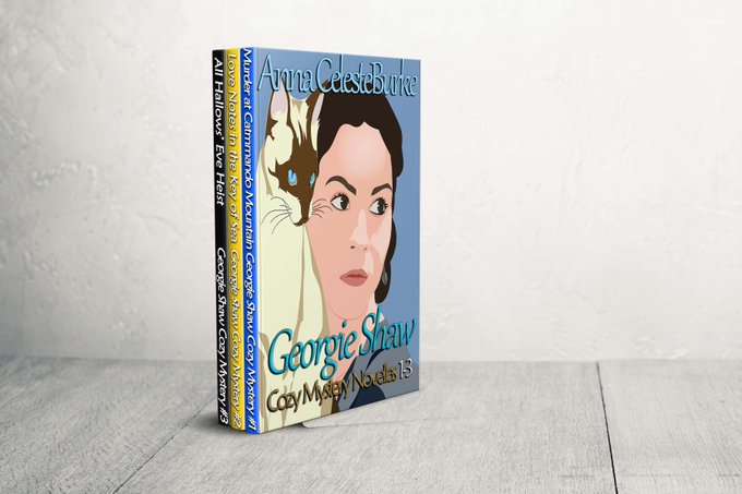 $25 Amazon/PP-1-WW-Georgie Shaw Cozy Mystery 3 Book Series-Anna Celeste Burke-Ends 7/14