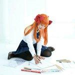 🎀「野崎くんに褒めてもらえるように、いっぱい絵の練習するね!」Model : Kanon : )#月刊少女野崎くん #佐