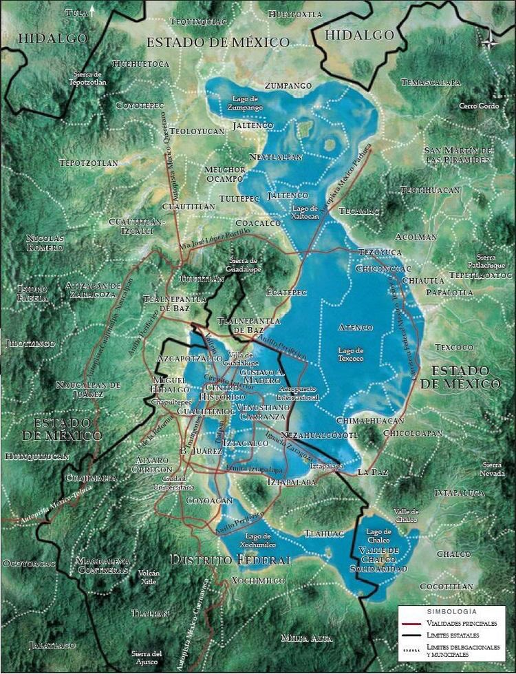 En el antiguo valle de m xico exist an 5 lagos chalco xochimilco texcoco zumpango y xaltocan - El tiempo en el valles oriental ...