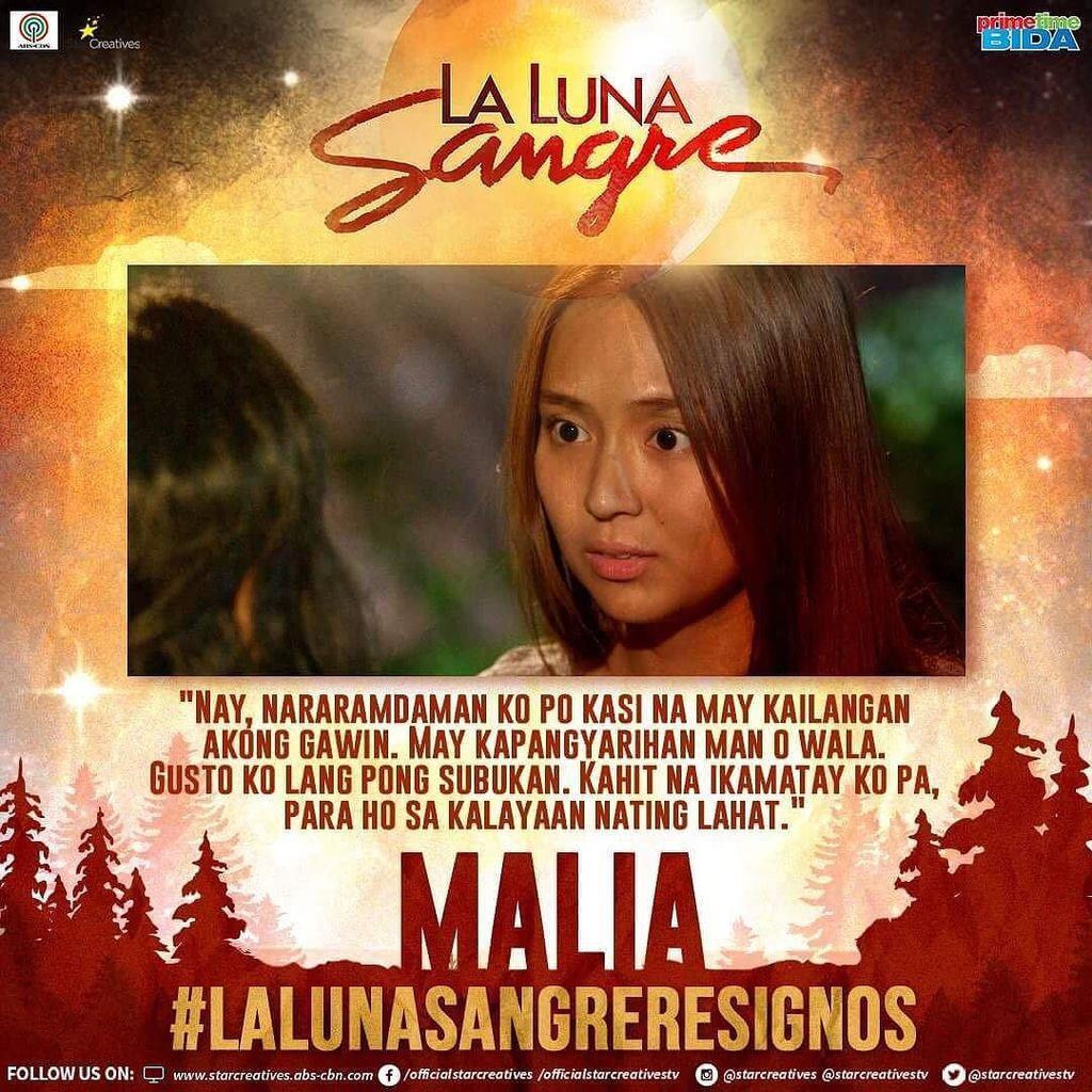 RT @StarCreativesTV: Lalaban pa rin si Malia! #LaLunaSangreSignos https://t.co/QVxhgsunpD