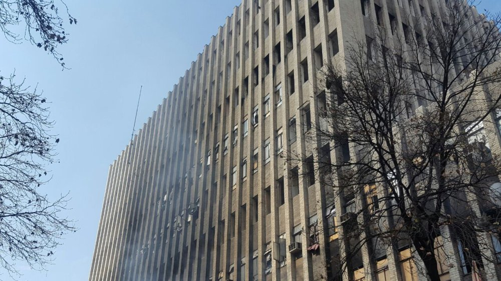 At least seven people killed after a fire broke out in downtown Johannesburg, South Africa