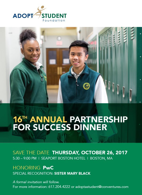 test Twitter Media - Save the date Oct 26th for our Adopt-A-Student Foundation Dinner honoring @PwC! Get the details at https://t.co/fXEwpdGvi9 https://t.co/Rs9zPGmyDz