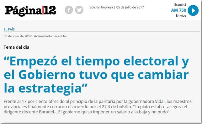 """Roberto Baradel: """"Empezó el tiempo electoral y el Gobierno tuvo que cambiar la estrategia"""" https://t.co/uywcahtBgT"""