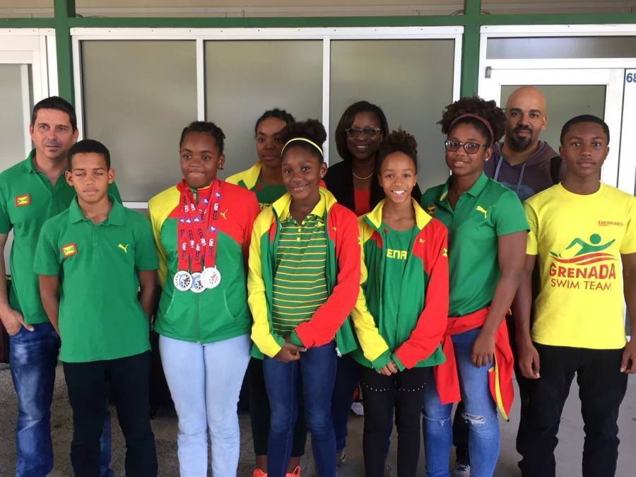 Grenada Swim Team Returns with Silver and 2 Bronze