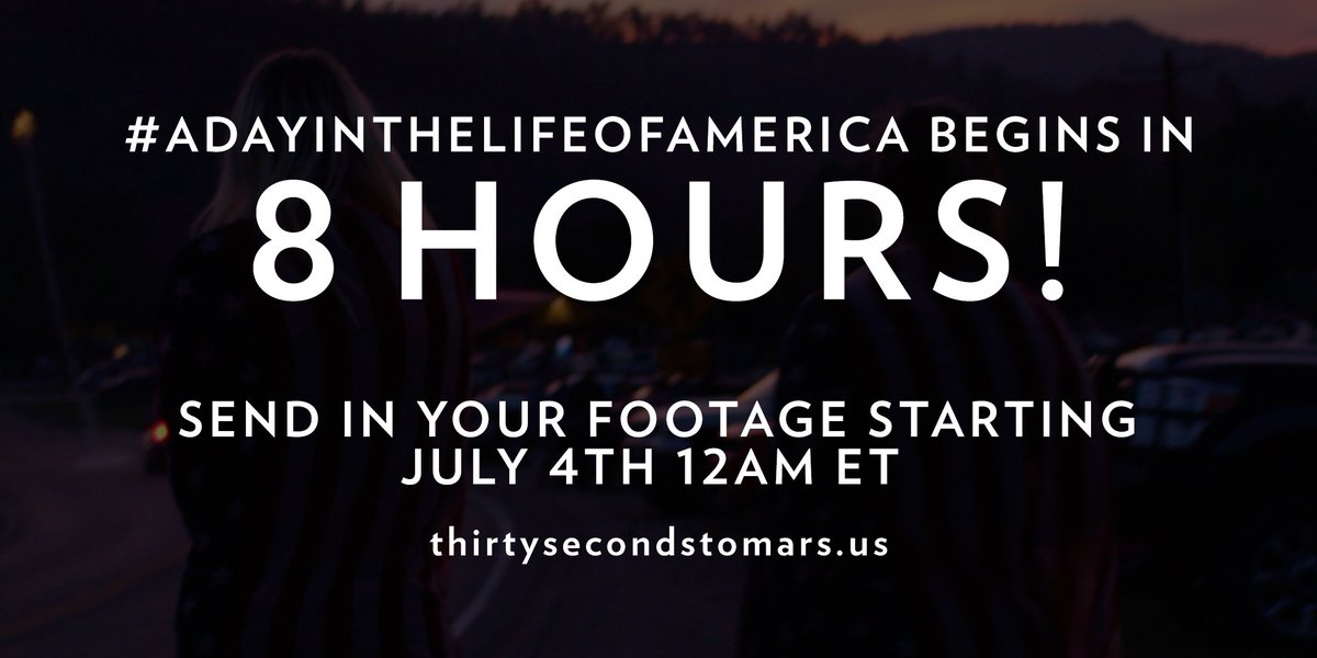 8 HOURS. #ADayInTheLifeOfAmerica https://t.co/knO82tZX20 https://t.co/WWIdE8KAFe