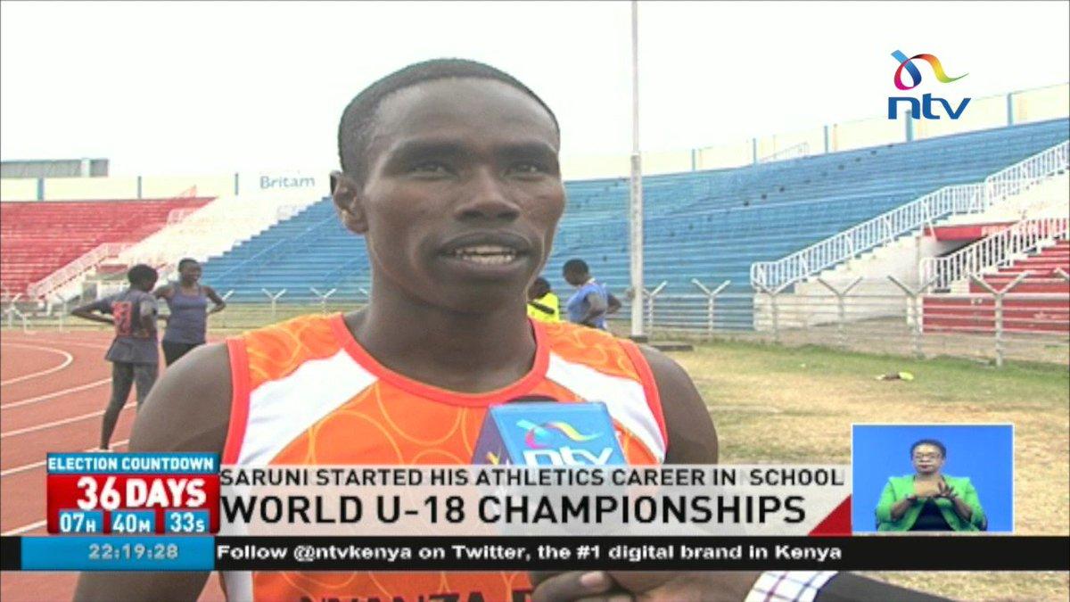 Team Kenya's IAAF World U18 Championships captain David Saruni aiming for gold in 400M hurdles