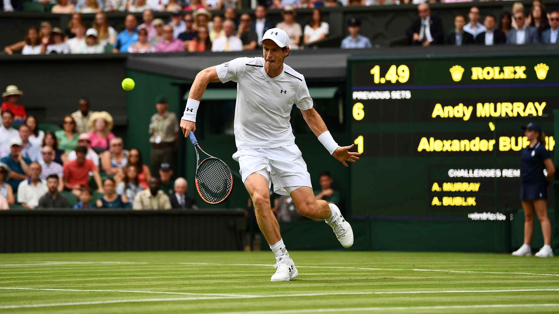 Title defence underway! Murray beats Bublik to set a #Wimbledon R2 clash vs Brown. More: https://t.co/88zxnTcj8s https://t.co/BL8QnUk5hz