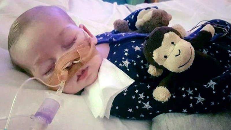 Europe-bound, U.S. President Trump offers help to terminally ill British baby