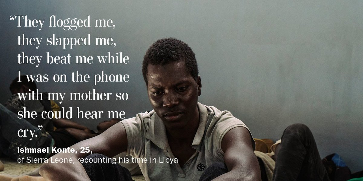 In Libya, migrants are bought and sold in a brutal, systematic trade