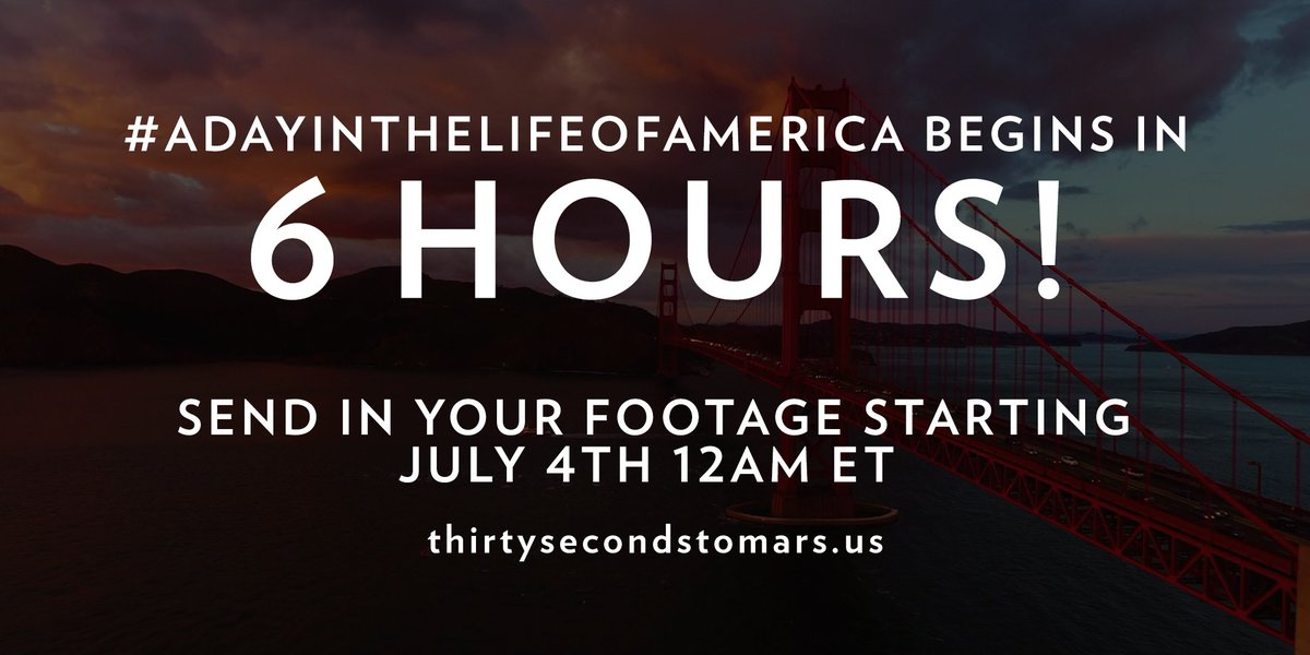 6 HOURS. #ADayInTheLifeOfAmerica https://t.co/knO82uhxTy https://t.co/l4DM6vnWfO