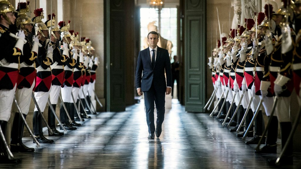 Macron pledges to transform politics in address before parliament at Versailles