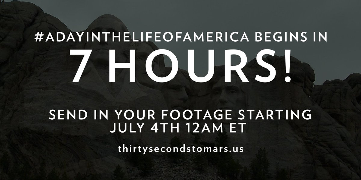 7 HOURS. #ADayInTheLifeOfAmerica https://t.co/knO82uhxTy https://t.co/XOULVvfpJC