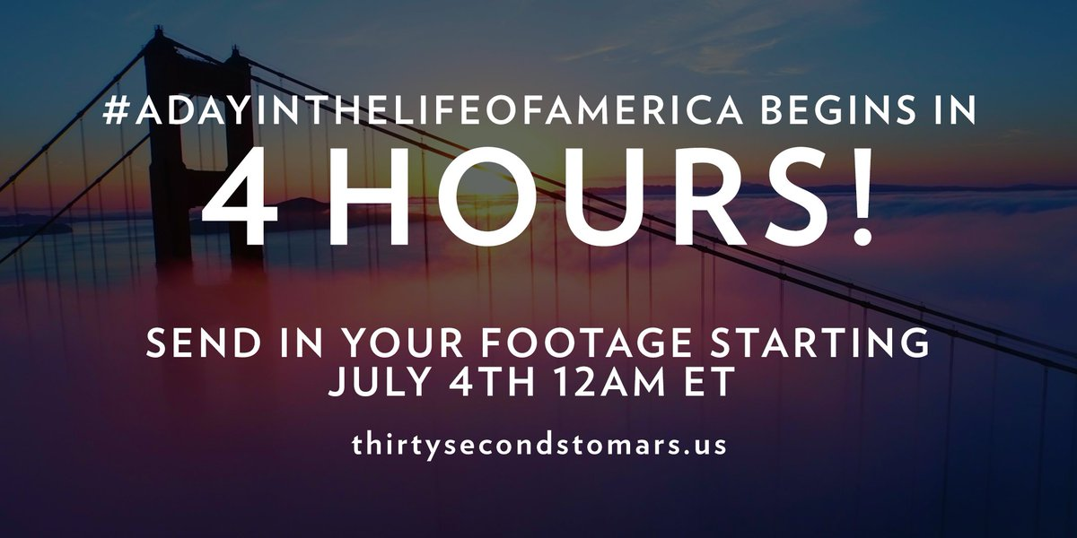 4 HOURS. #ADayInTheLifeOfAmerica https://t.co/knO82tZX20 https://t.co/SO3j4IivRE