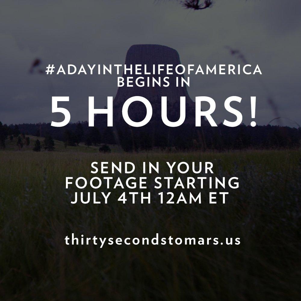 5 HOURS. #ADayInTheLifeOfAmerica https://t.co/knO82tZX20 https://t.co/2drWlQZqkK