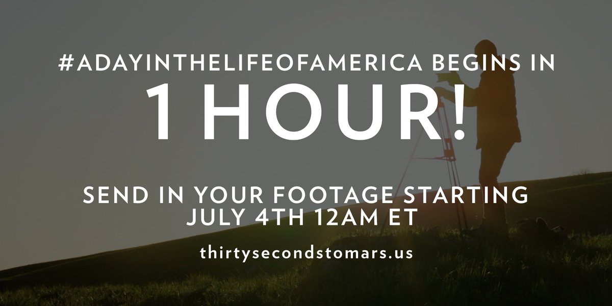 1 HOUR. #ADayInTheLifeOfAmerica https://t.co/knO82uhxTy https://t.co/qMbAK4wspD