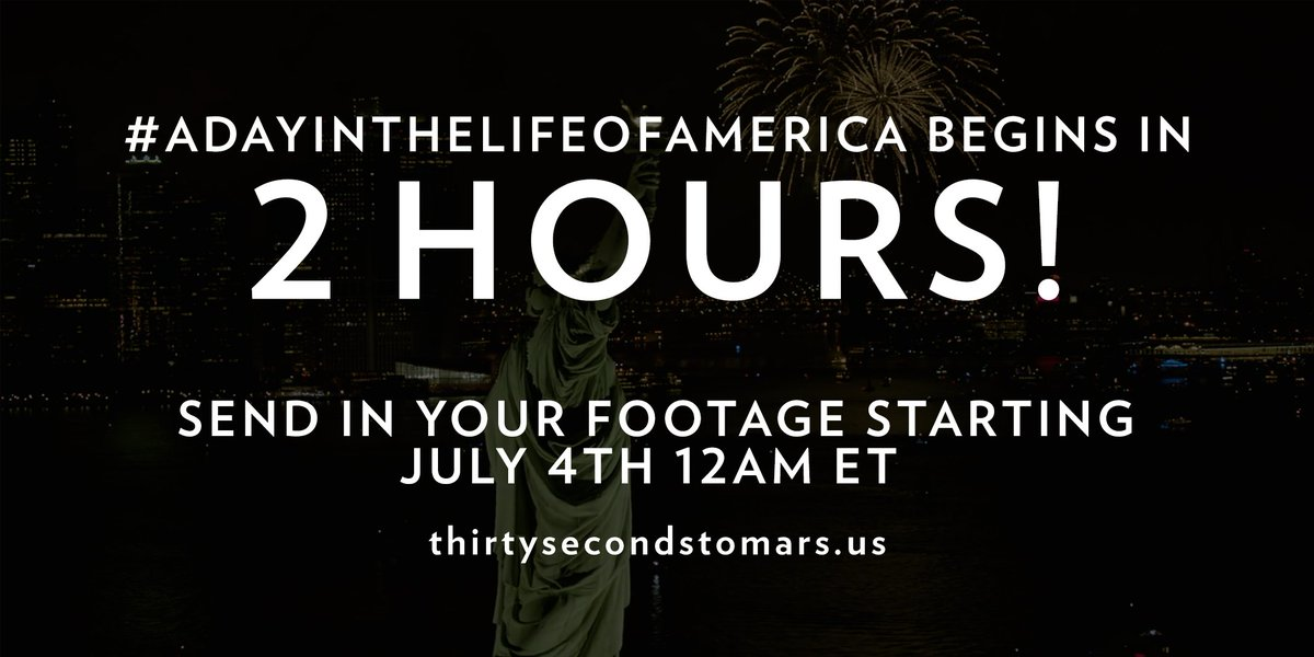 2 HOURS. #ADayInTheLifeOfAmerica https://t.co/knO82uhxTy https://t.co/SPAQTnLBCh