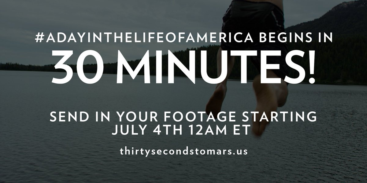 30 MINUTES. #ADayInTheLifeOfAmerica https://t.co/knO82uhxTy https://t.co/ccBkx8IBPs