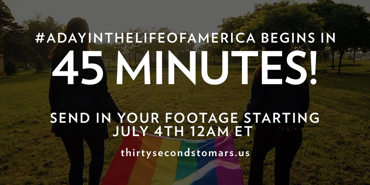 45 MINUTES. #ADayInTheLifeOfAmerica https://t.co/knO82tZX20 https://t.co/qhzGQrV6IS