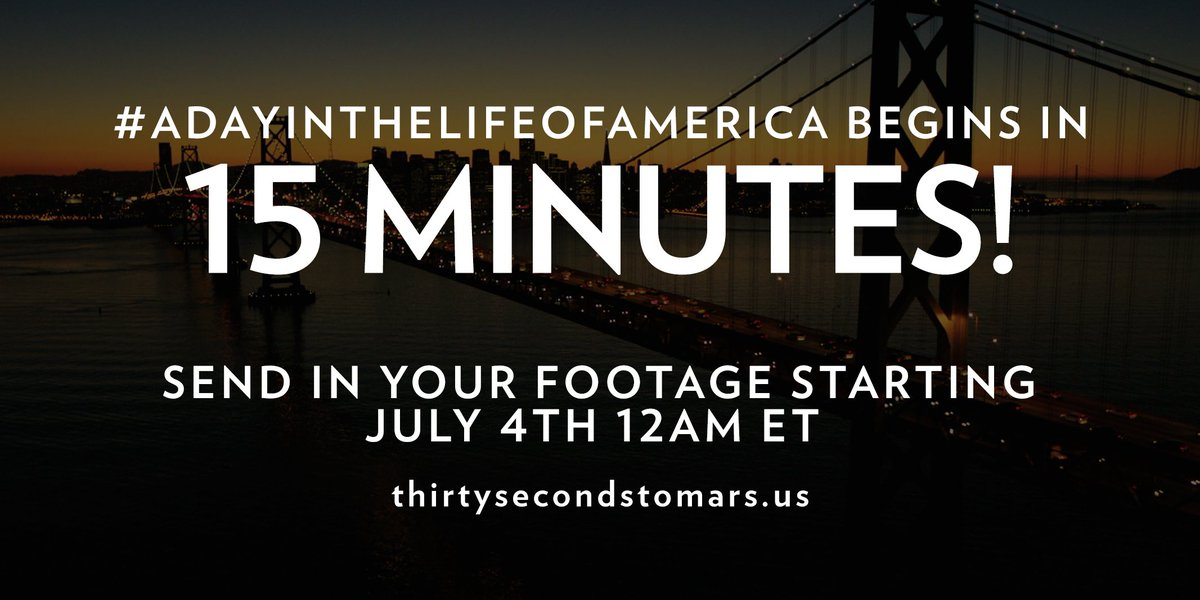 15 MINUTES. #ADayInTheLifeOfAmerica https://t.co/knO82uhxTy https://t.co/vrUBCWqc41