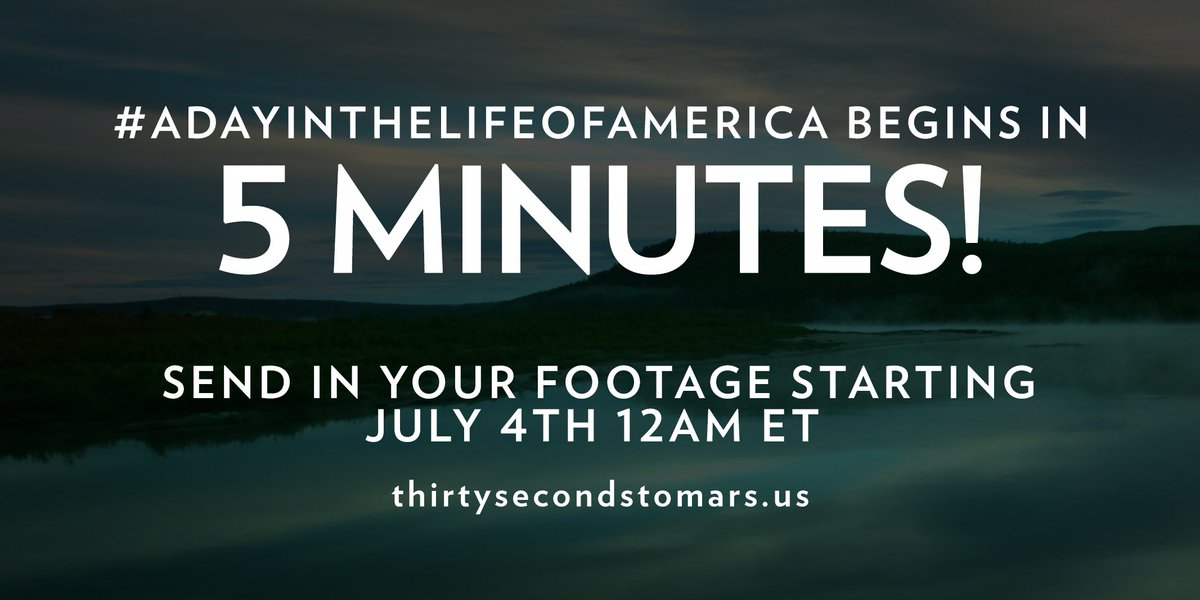 5 MINUTES. #ADayInTheLifeOfAmerica https://t.co/knO82uhxTy https://t.co/DODKFNCxG3