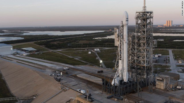 SpaceX scrubs second try at launching Falcon 9 rocket carrying communications satellite.