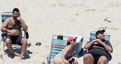 N.J. Gov. Chris Christie was spotted on a beach closed by the state's government shutdown