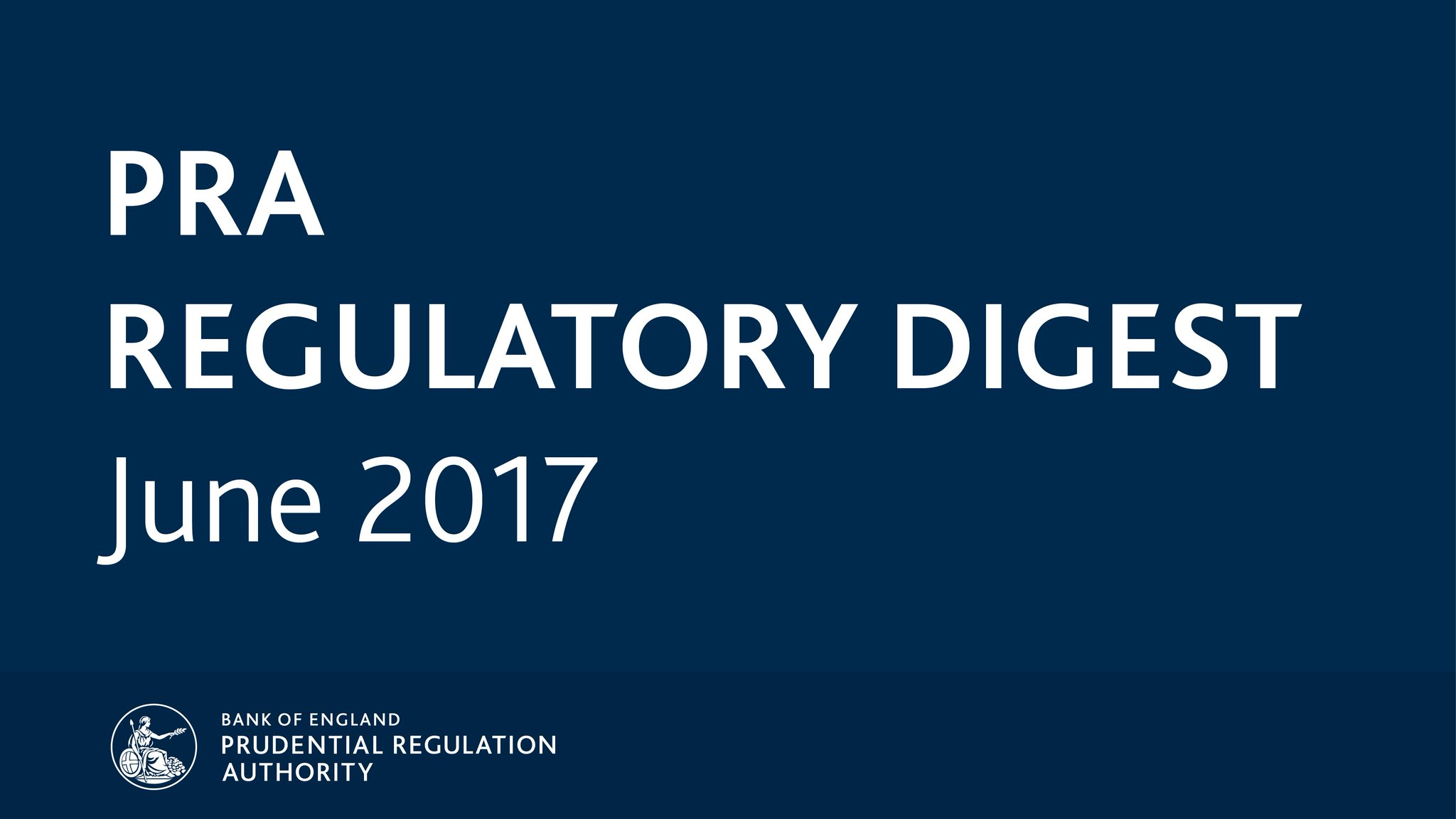 Catch up on June's key regulatory news and publications with the #PRARegulatoryDigest: https://t.co/wgV0Al8Mo6 https://t.co/kCq6fg8zkJ
