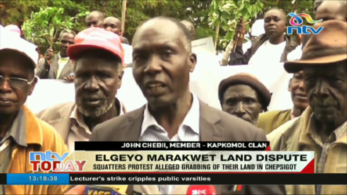 Squatters protest alleged grabbing of their land in Chepsigot