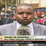 Raila Odinga leads NASA leaders in campaigns in Kiambu