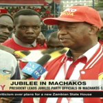 President Kenyatta leads Jubilee party officials in Machakos campaign