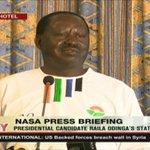 Raila Odinga outlines NASA's plan for Saba Saba Day and after