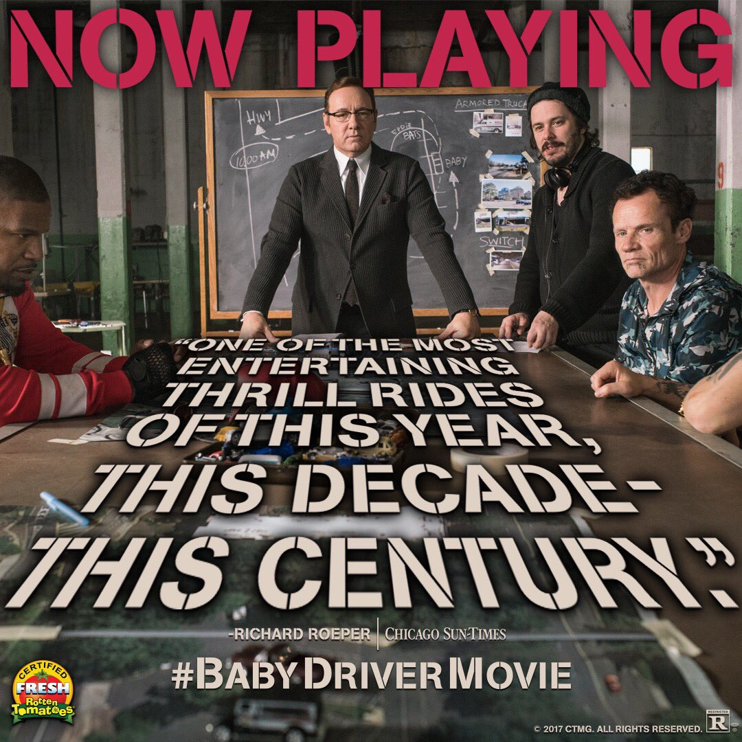 Happy 4th! Drive safely if you are racing to see Baby Driver today! https://t.co/l4BVoUM5rH