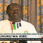 Mgombea urais wa Nasa Raila Odinga aendelea kuutilia shaka tume ya IEBC
