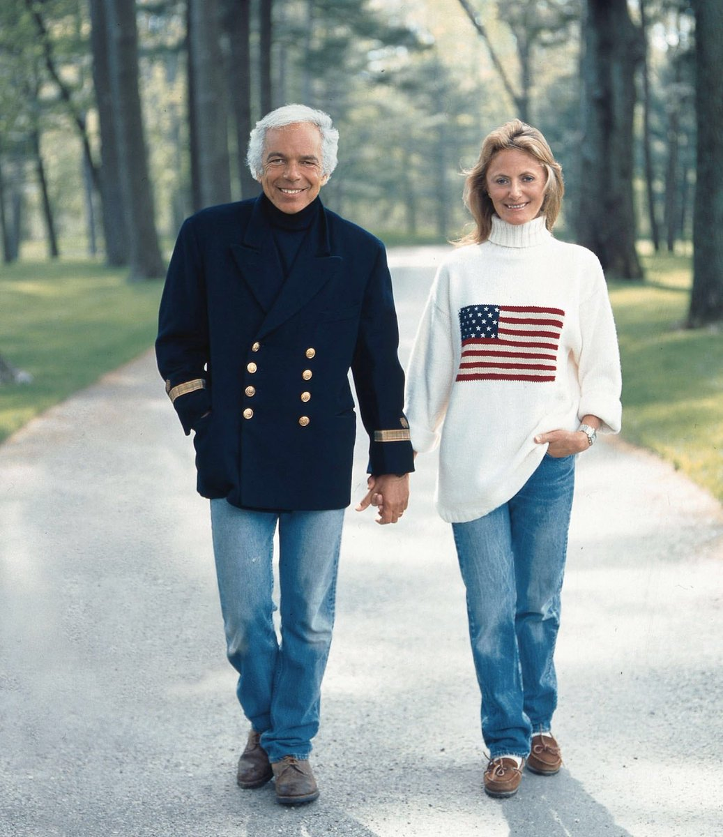 Ralph and Ricky Lauren in Bedford, NY, 1996. #4thOfJuly [Photograph: Victor Skrebneski] https://t.co/1k97saYqDm