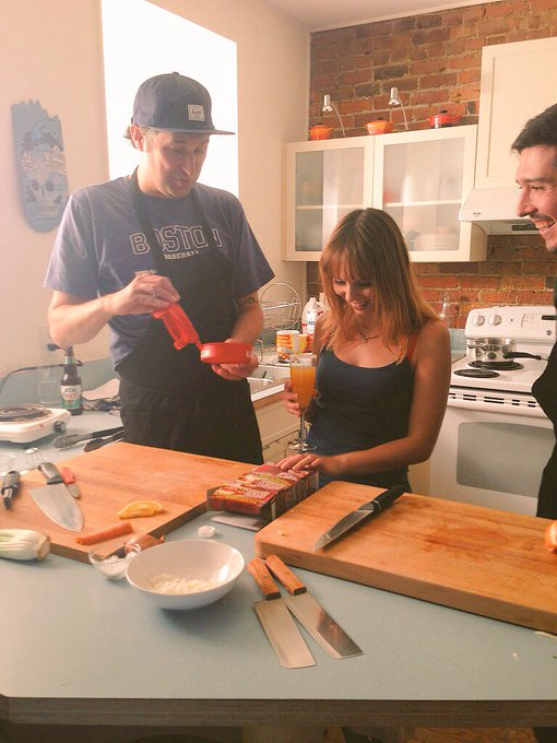 1 pic. Random memory of one of times I had the chance to cook something delicious on #BLCLive with @BobleChef