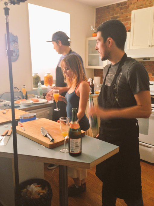 2 pic. Random memory of one of times I had the chance to cook something delicious on #BLCLive with @BobleChef