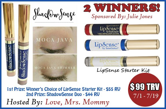 Feel Beautiful LipSense & ShadowSense Giveaway