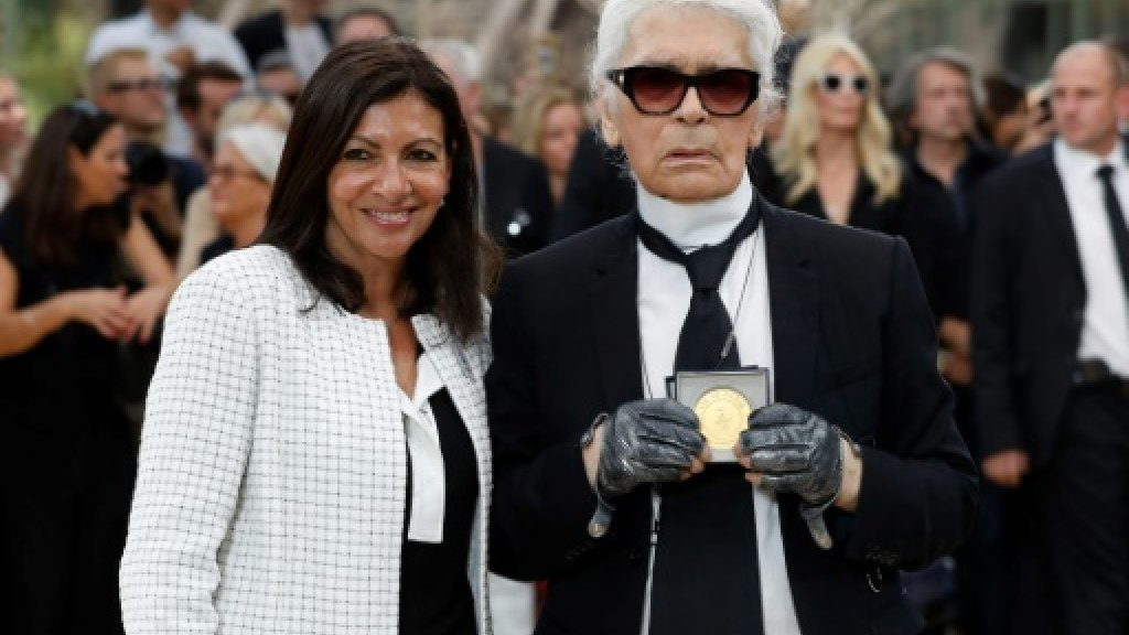 Fashion's 'kaiser' Karl Lagerfeld crowned king of Paris