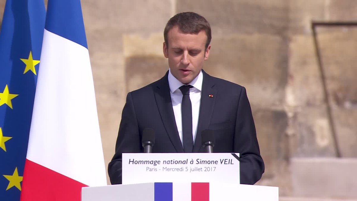 "?? French President Macron pays tribute to Simone Veil: ""She loved Europe!"""